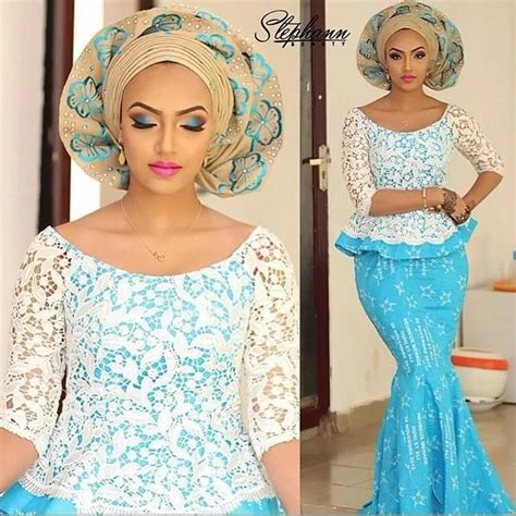 wedding styles for chord lace aso ebi with cord lace styles in nigeria 2017 naija ng