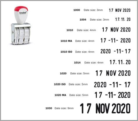 rubber st date font promotesource promotional products idea trodat