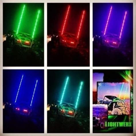 Lighted Whips For Rzr by Dual Led Whip Lighted Release Lightwerx Custom