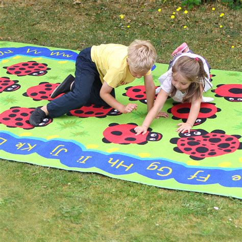 Outside Play Mats Toddlers by Caterpillar Numeracy Literacy Outdoor Play Mat