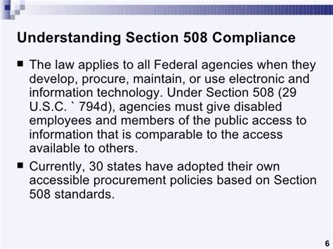section 508 law understanding section 508