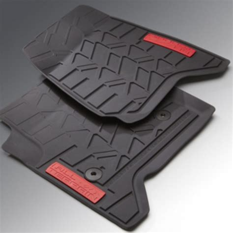 Gmc Terrain All Weather Floor Mats by 2015 1500 Floor Mats Front Premium All Weather Black With All Terrain Logo Shopgmcparts
