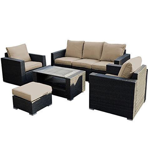 outdoor sofa sectional set giantex 7pc outdoor patio patio sectional furniture pe