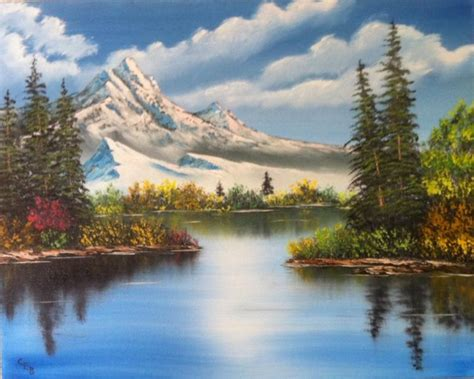 bob ross style paintings for sale bob ross originals for sale