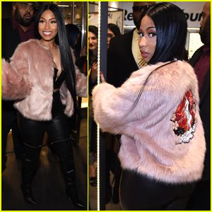 nicki minaj shows off another look at her huge ring on nicki minaj shows off her h m collection at prive
