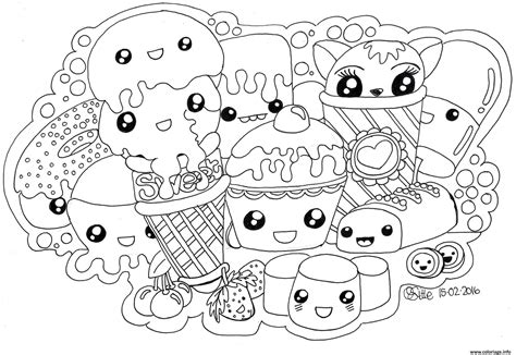 hard coloring pages cute food coloring pages coloriage kawaii sweets colour manga cute dessin