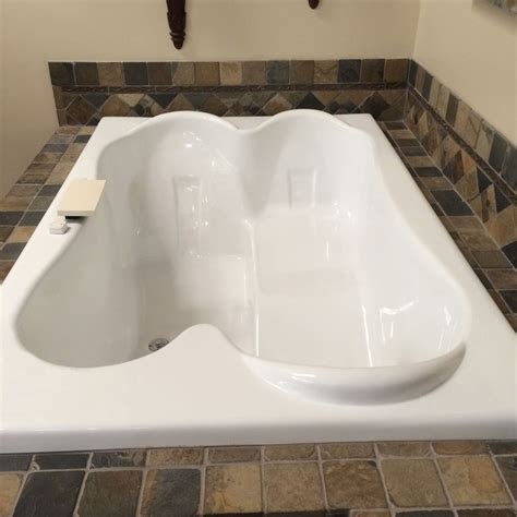 2 Person Bathtub carver tubs tpl 7248 72x48 drop in center drain two person acrylic soaking tub ebay
