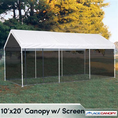 carport canopy with screen kit 10x20