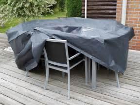 housse protection jardin housse de protection salon de jardin rectangle 6 places 225x205 cm gris noir graphite