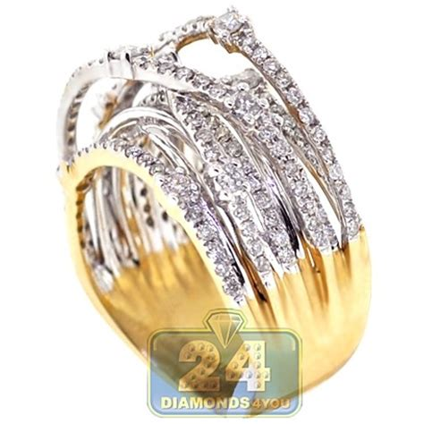 14k yellow gold 1 24 ct womens highway ring