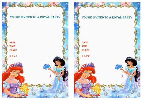 printable jasmine invitations princess jasmine birthday invitations birthday printable