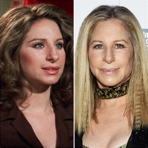 barbra streisand now what the passage of time did to 45 celebs