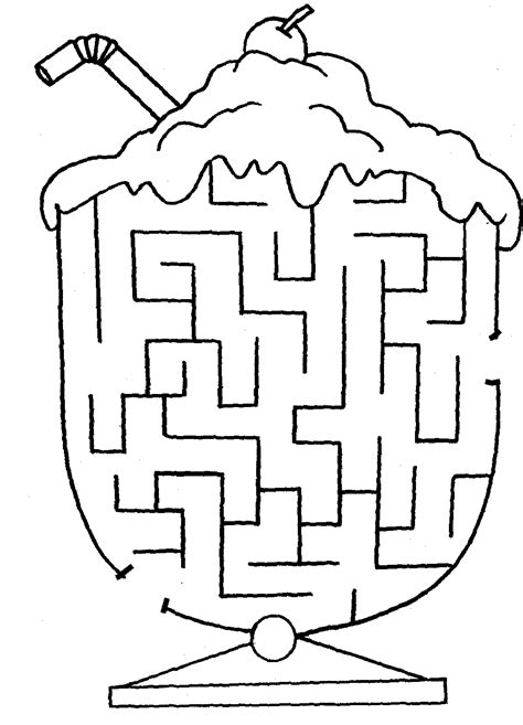 maze coloring pages printable coloring page for kids cute easy maze printables color pages pinterest maze