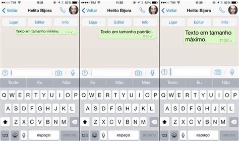 novo layout whatsapp iphone como mudar e aumentar o tamanho da fonte do whatsapp no