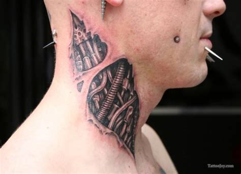 biomechanical neck tattoo biomechanical tattoos and designs page 249