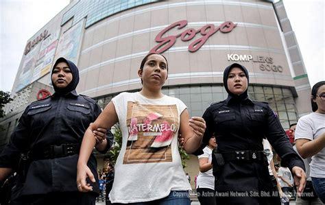 Obat Perangsang Wanita Kuala Lumpur Lagi Wanita Ditahan Kekecohan Demonstrasi Tangkapnajib