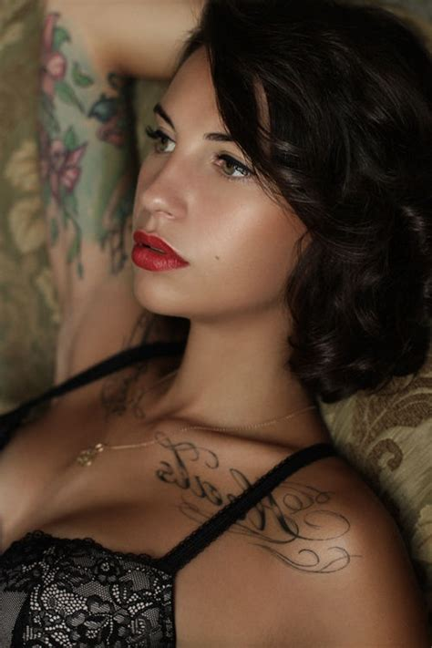 hot tattoo makeup love chest clavicle tattoos sexy women tattoos