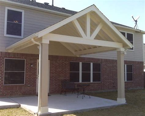 Open Gable Patio Houzz Patio Roof Designs Plans