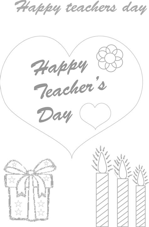 printable greeting cards on teachers day teacher s day coloring pages coloring kids