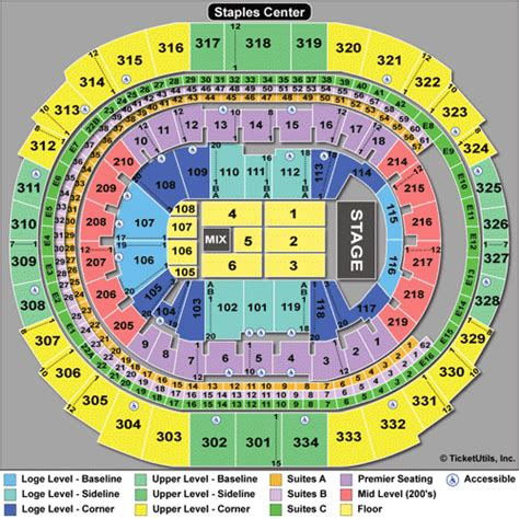 staples center map staples center tickets