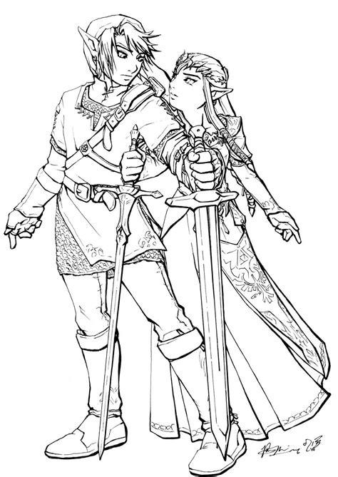 link  zelda coloring page