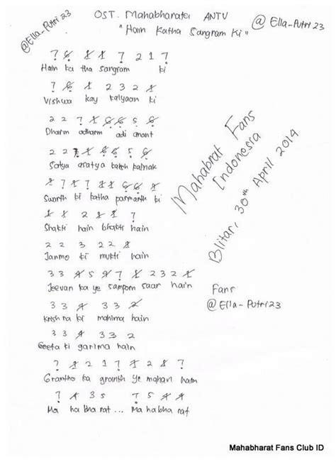lagu mahabharata minta not angka pianika lagu mahabharata brainly co id
