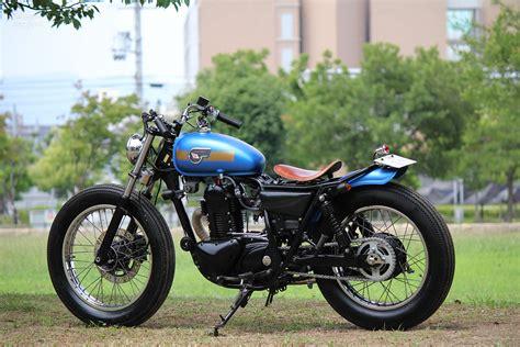 custom kawasaki 250tr by motor garage goods japan