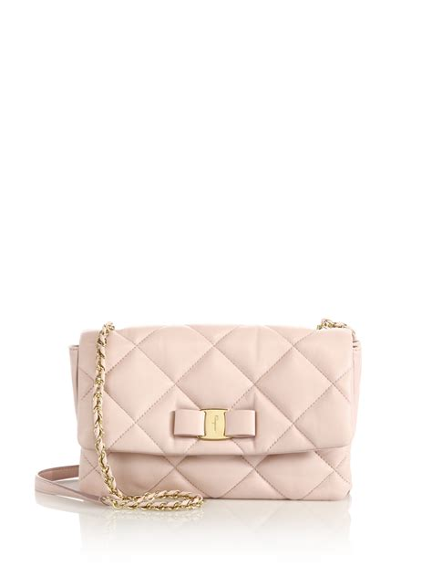 Erva Quilted Leather Bag by Lyst Ferragamo Gelly Quilted Nappa Leather Shoulder Bag