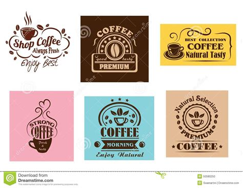 Creative Coffee Label Graphic Designs Stock Vector   Image: 50580250