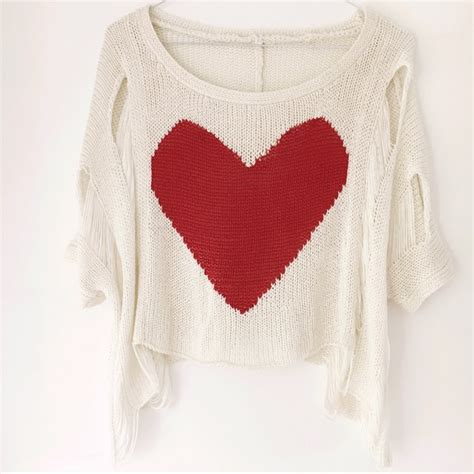 Sweater Give Me A White sweater and white with la carmina fashion depop