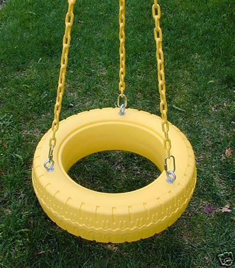 plastic tire swing swing set accessories for your outdoor swingset or playset