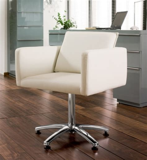 box swivelling chair white office chairs dwell retail