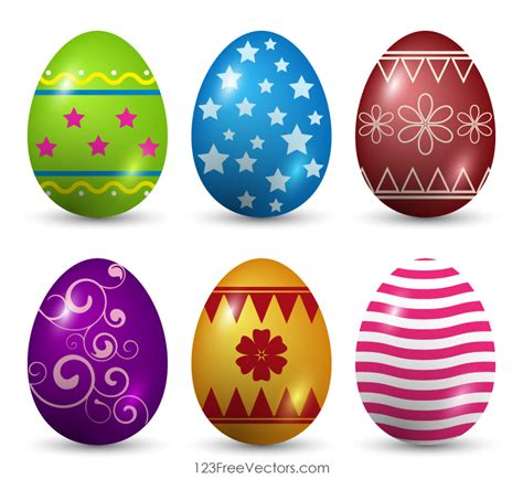 decorated easter eggs decorated easter eggs vector art by 123freevectors on
