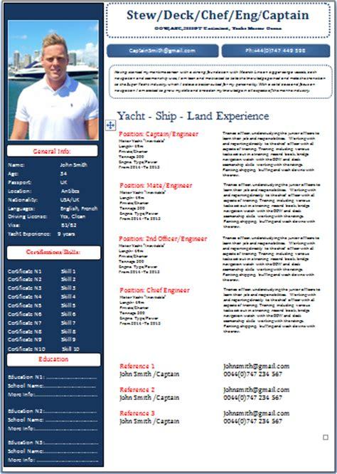 sle cv for yacht stewardess boat stewardess resume