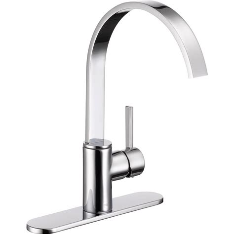 home depot faucet kitchen delta mandolin single handle standard kitchen faucet in chrome 26602lf the home depot