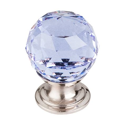 blue crystal cabinet knobs top knobs crystal 1 1 8 inch diameter light blue crystal