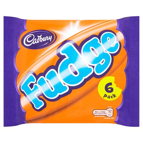 Cadbury Fudge Bar 6 Pack 147g   Multipacks   Sweets & Chocolate   Food Cupboard   Iceland