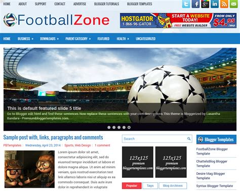 themes zone download football zone blogger template blogger templates gallery