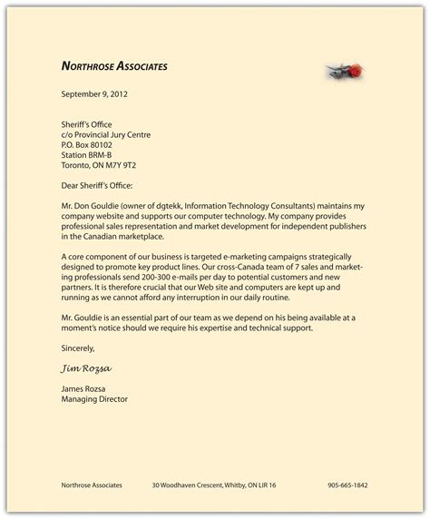 Business Letter Salutation Canada memorandums and letters