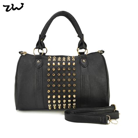 Stud Style Bag 7 ziwi brand 3 color new fashion pu leather handbags stud s handbag rivet shoulder