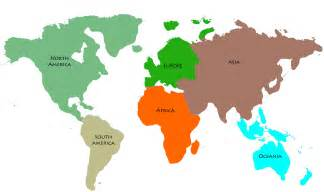 map of the continents five continents pictures to pin on pinsdaddy