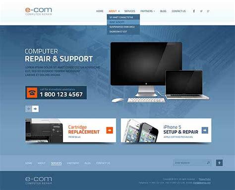 Computer Repair Website Templates Pc Repair Themes Gridgum Computer Repair Website Template