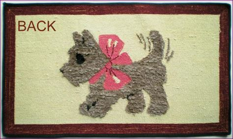 scottie vintage hooked rug and antiques