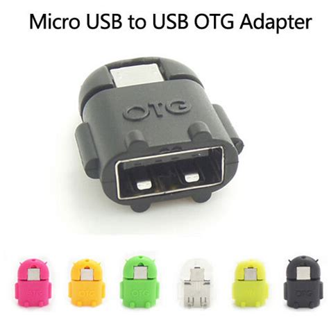 Otg Android Robot Usb On The Go For Smartphone Tab sell android robot shaped micro usb to usb otg adapter