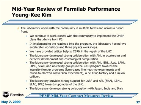 mid year review template doe fy2009 fnal mid year review slide presentation