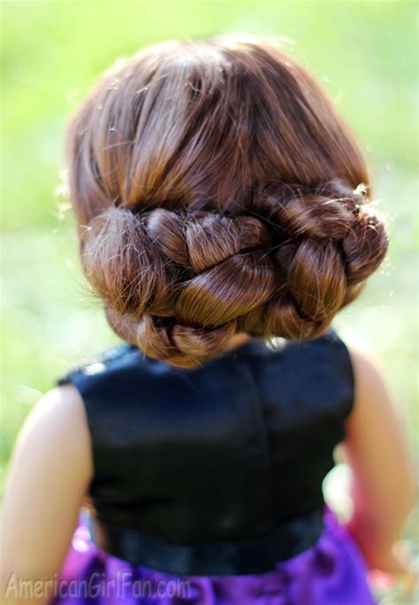 Fancy Bun Hairstyles by Fancy Braided Bun Updo Doll Hair Styling