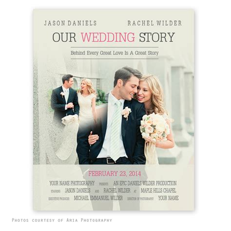 posters for weddings templates free movie poster wedding template