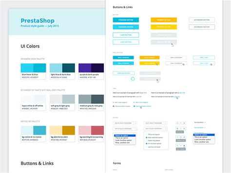 style guide 40 great exles of ui style guides web graphic