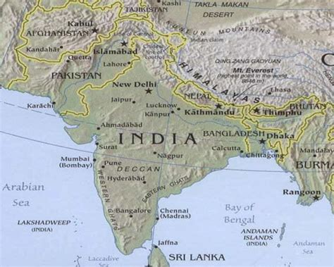south asia physical map free printable maps south asia physical maps printfree