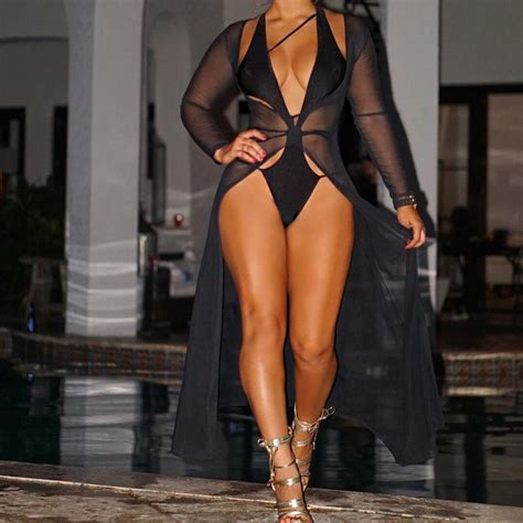 2017 new fashion dress black fishnet sleeve chiffon maxi dress for